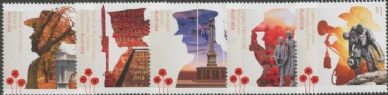 AUS SG4882-6 A Century of Service: War Memorials set of 5